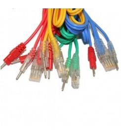 Set 4 cavi 8 poli a Spinotto per elettrostimolatore Compex