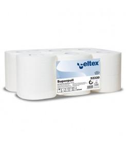 Carta asciugamani in rotolo pura cellulosa modello SUPERPULL confezione 6 pezzi