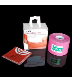 Kinesiology tape taping colore ROSA dimensioni 5 cm. x 5 mt.