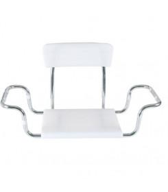 Sedile per vasca con seduta in plastica regolabile in larghezza con schienale