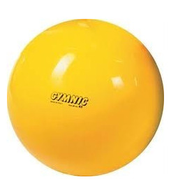 Pallone Psicomotorio Gymnic diametro 75 cm colore Giallo