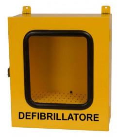 Armadietto teca per defibrillatore da esterno con allarme