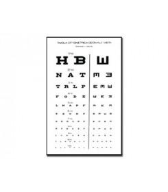 Tavola optometrica mista decimale - 3 m - 28x56 cm