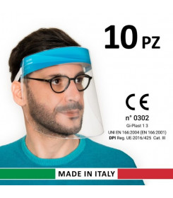 10 Visiere Protettive Paraschizzi Made in Italy